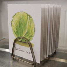 """""""Lettuce Eat"""" Produce Print Hand Lettered Note Card for sale at thesimplepalette.etsy.com"""