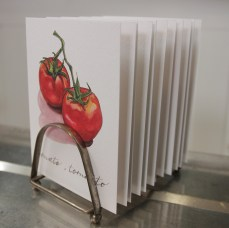 """""""Tomato, Tomahto"""" Produce Print Hand Lettered Note Card for sale at thesimplepalette.etsy.com"""