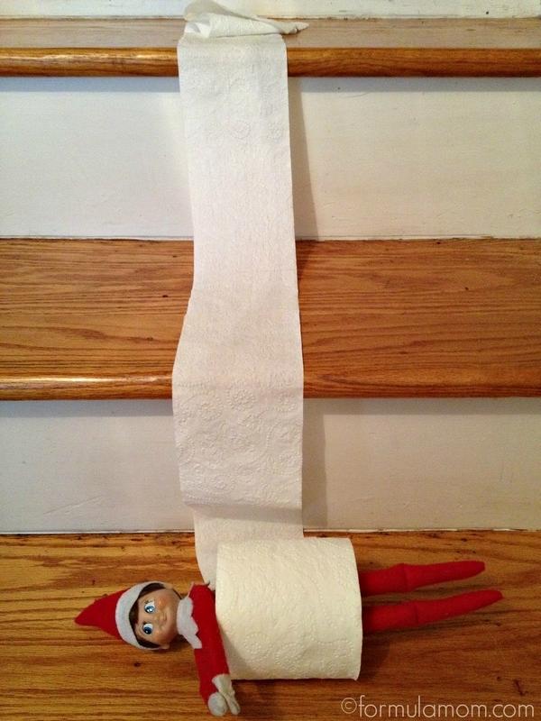 Elf on the Shelf Ideas: Toilet Paper Roll #ElfOnTheShelf