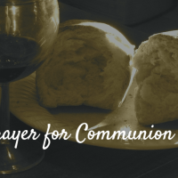 A communion prayer