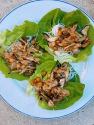 mushroom lettuce cups