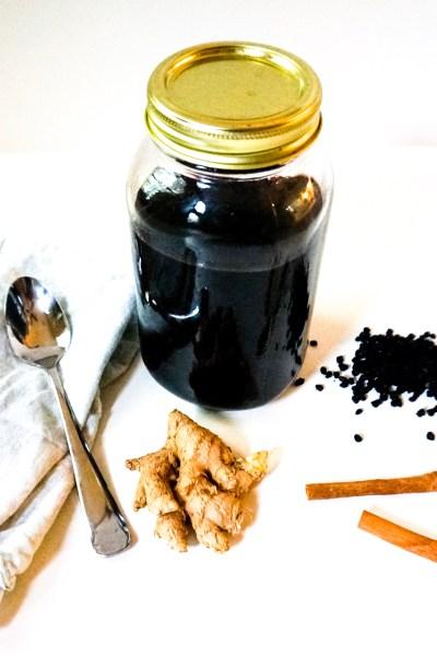 How to Make Elderberry Syrup  (Cold & Flu Season)