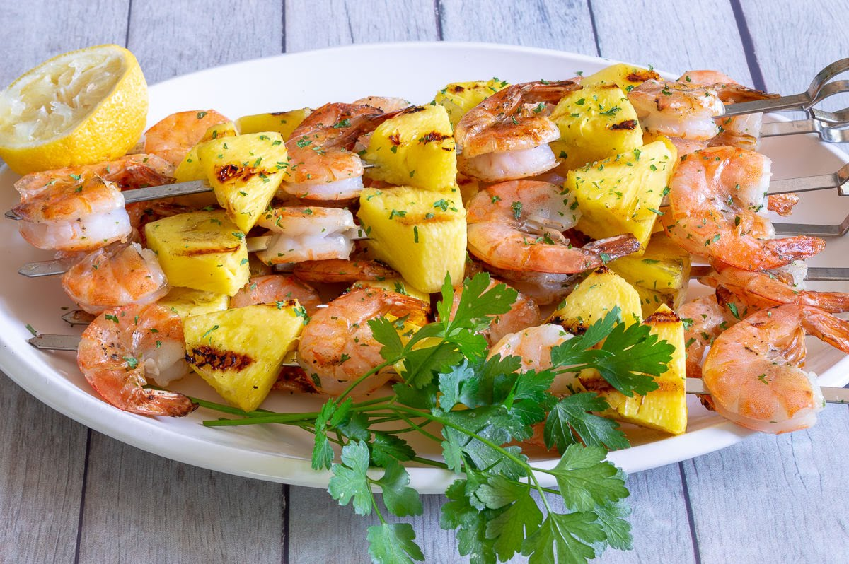 Grilled Pineapple Shrimp | #Cookout Week