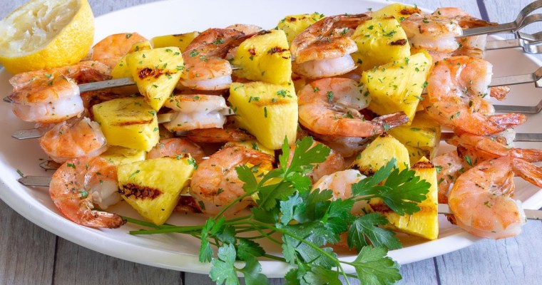 Grilled Pineapple Shrimp | #Cookout Week