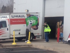 I fluctuated between admiration and horror as this man pulled his  U-Haul up to the donation door or a local thrift store and offloaded the entire thing PACKED full of stuff.