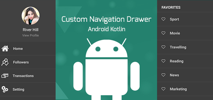 Android Custom Navigation Drawer Tutorial - theSimplyCoder