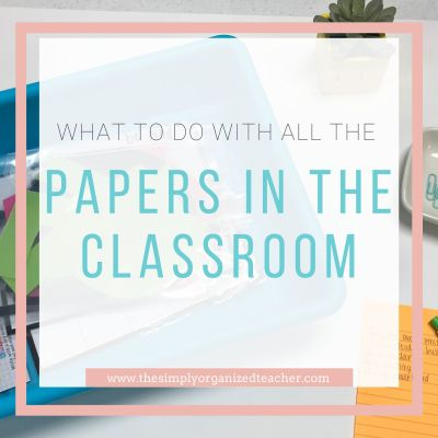 What to Do with All Those Papers in the Classroom
