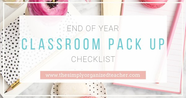 Looking to pack your classroom in an organized way? This check list will provide you the steps you need to pack up your classroom at the end of the year.