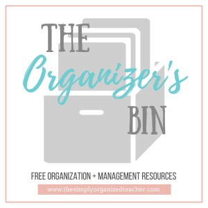 The Organizer's Bin- Free resources for classroom organization and classroom management. Also included are free courses and items for first year teachers.