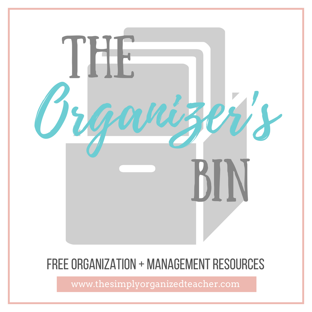 Looking for free classroom organization and management resources? The Organizer's Bin is full of resources for teachers plus when you sign up you get weekly emails with additional ideas, tips, and support for classroom organization.
