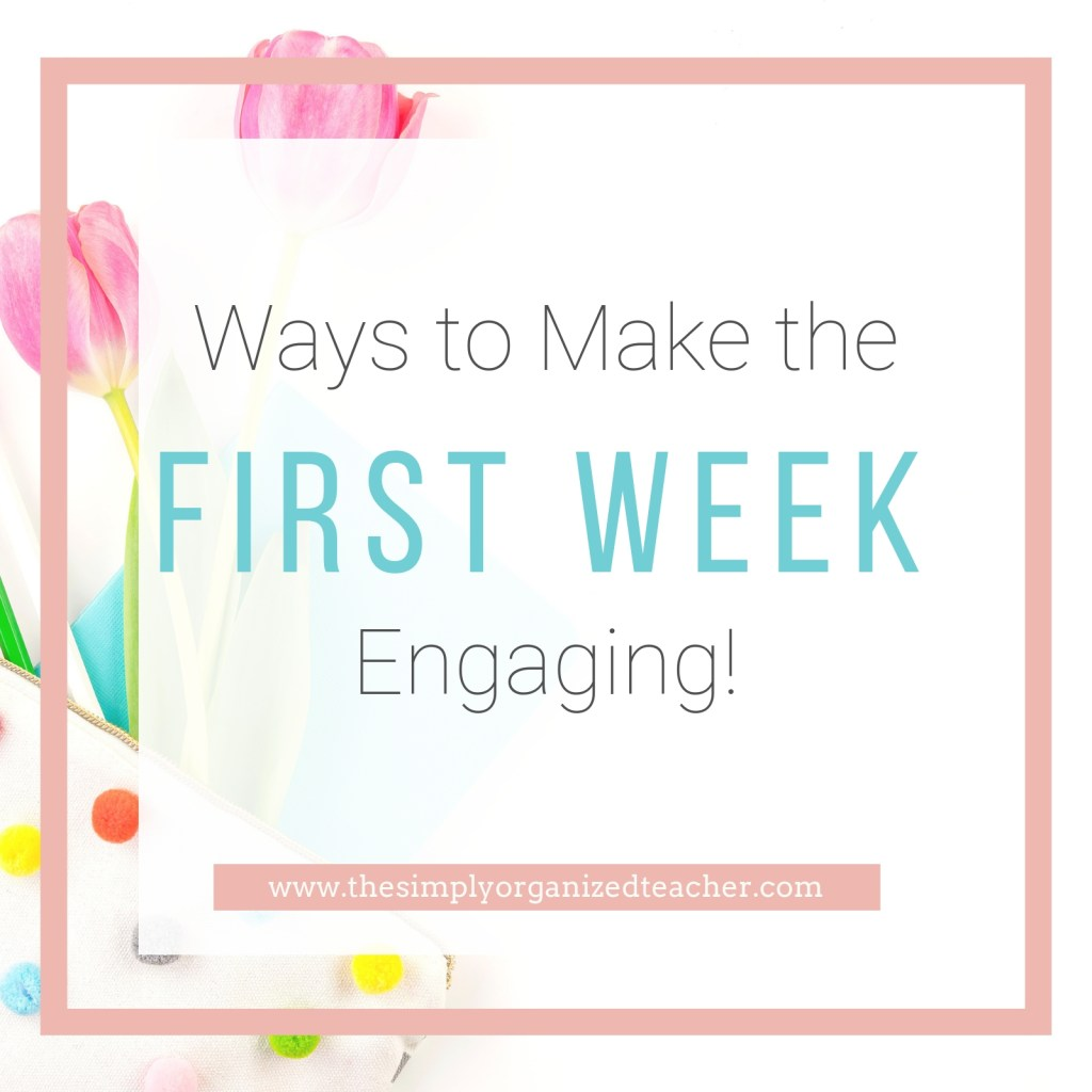Ideas and activities to make the first week of school fun and engaging for your students. This list shares team builders and class builders as well as how to plan for your first week of school.