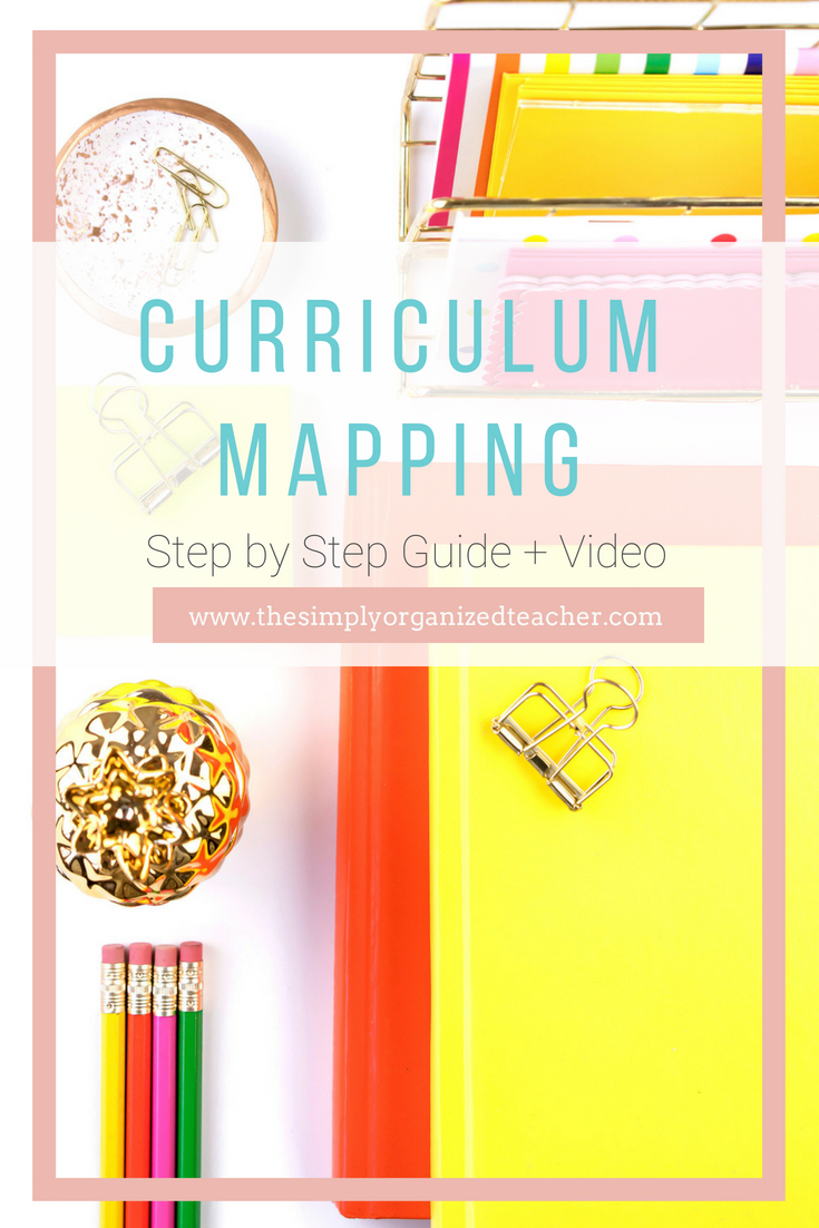 This step by step curriculum mapping guide and video will help teachers lesson plan and plan for the entire school year.