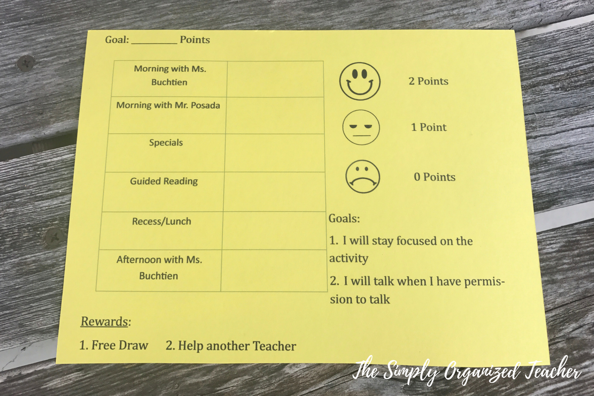 Behavior Chart for dealing with difficult students. This chart helped me deal with discipline in my elementary classroom.