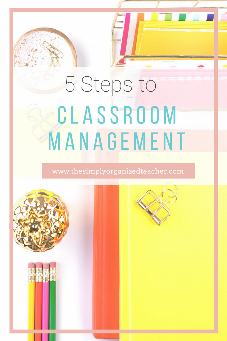 These 5 steps will help you as you implement your classroom management procedures at the beginning of the year. These strategies are also great to use after a break and when new students enter the elementary classroom.
