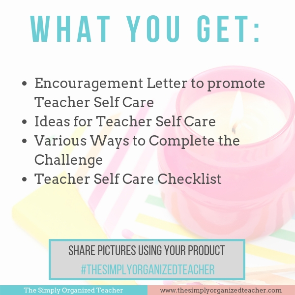 Implement teacher self care with these steps and ideas.