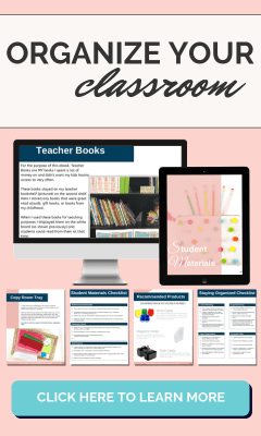 Looking to organize areas in your elementary classroom? This resource will walk you through key areas of your classroom with pictures, ideas, and checklists to organize the areas.