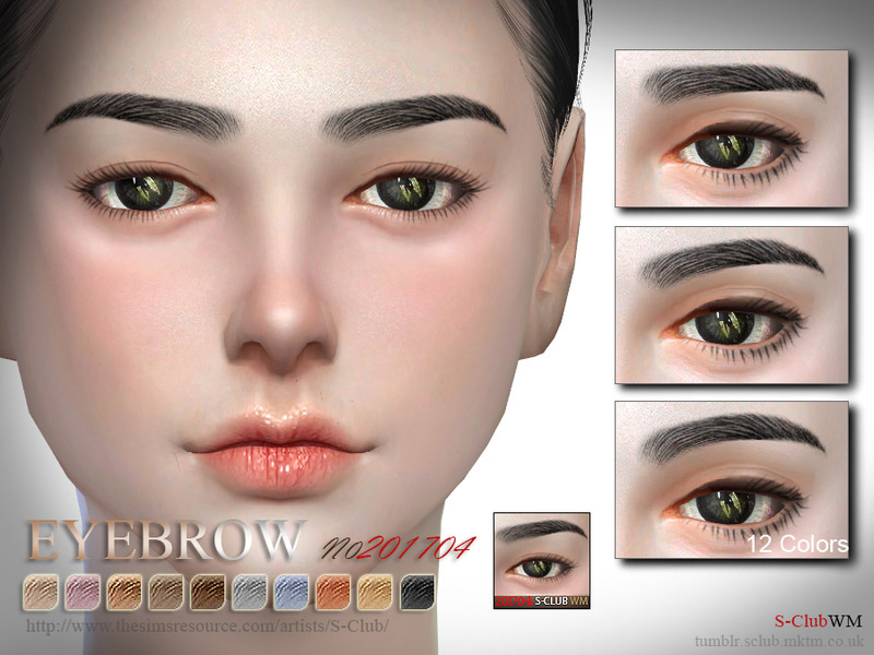 1e77eac5073 S-Club WM ts4 Eyebrows F 201704 - The Sims 4 Catalog