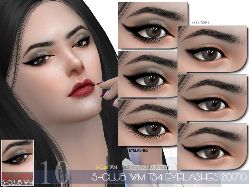 67462b37484 S-Club WM ts4 eyelashes 201710 - The Sims 4 Catalog