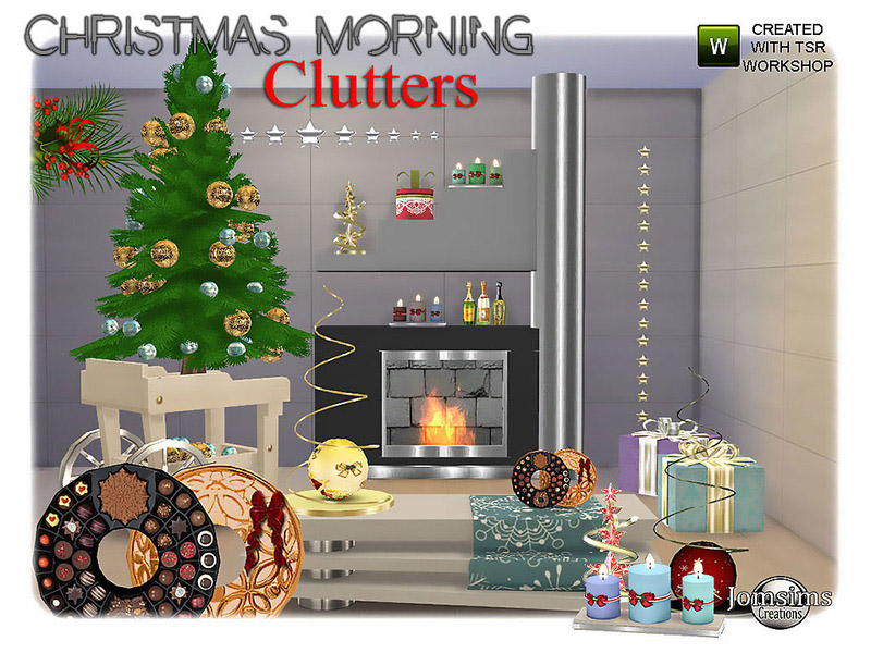 christmas morning clutters - The Sims 4 Catalog