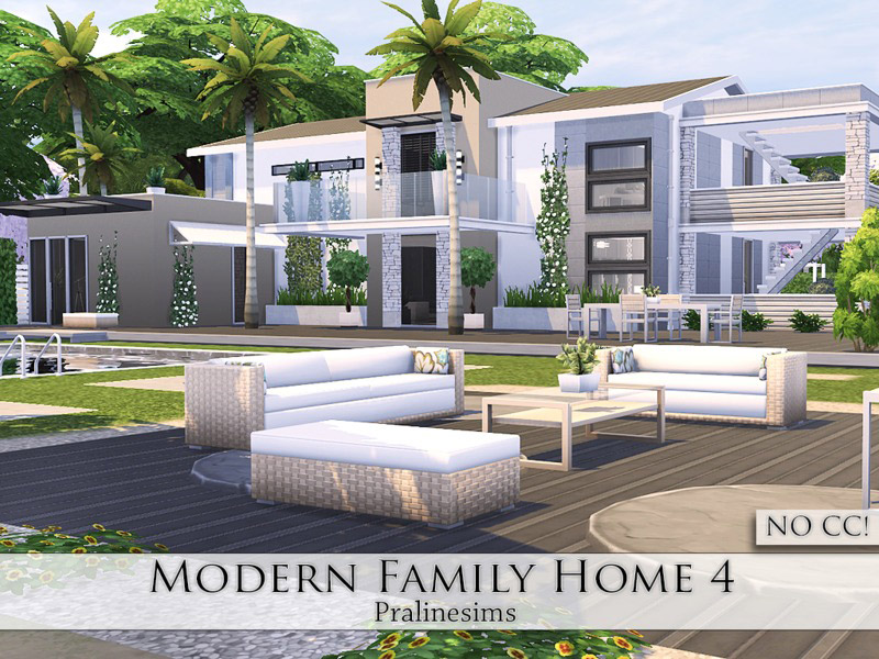 Modern Family Home 4 - The Sims 4 Catalog