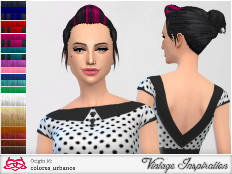 My Everyday Pinup Hairstyle 02 The Sims 4 Catalog