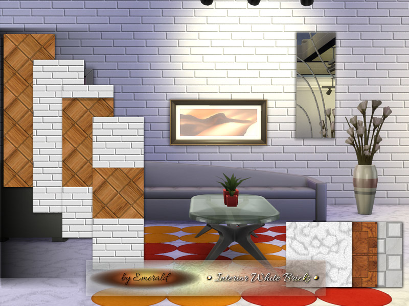 Interior White Bricks The Sims 4 Catalog