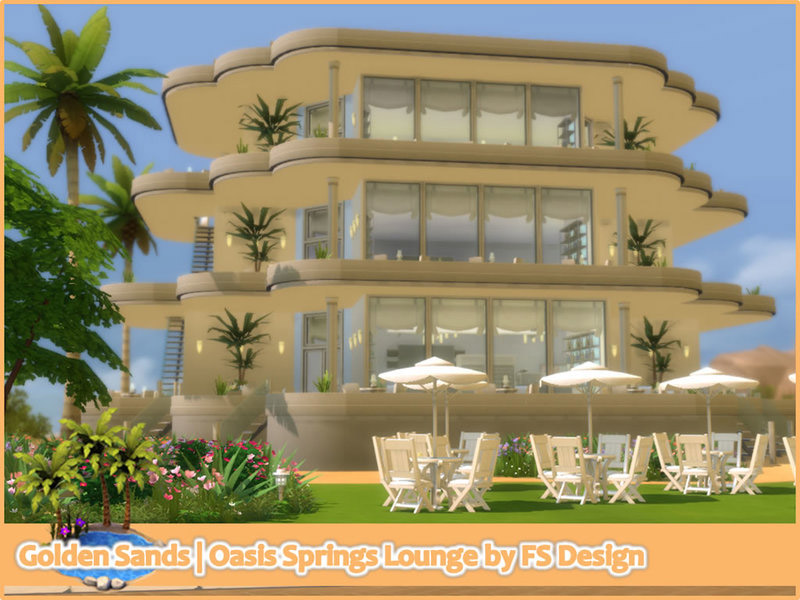 Golden Sands | Oasis Springs Lounge - The Sims 4 Catalog