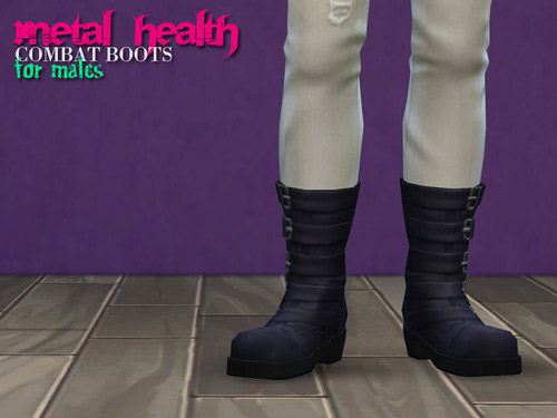 Metal Health Combat Boots The Sims 4 Catalog