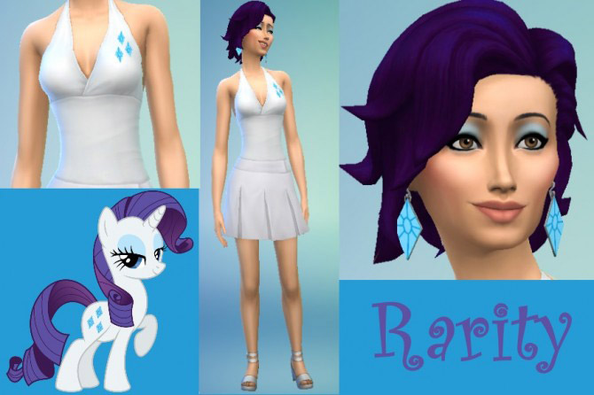 my little pony themed clothing and hair the sims 4 catalog
