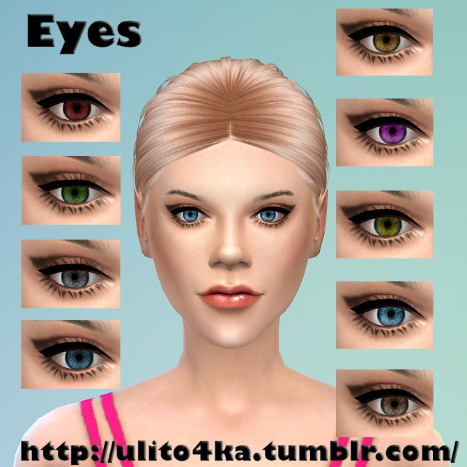 Non-default eyes 9 colors - The Sims 4 Catalog