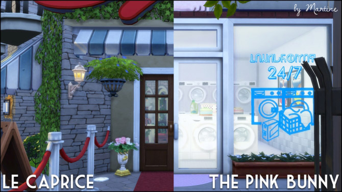 Le Caprice restaurant and The Pink Bunny laundromat - The