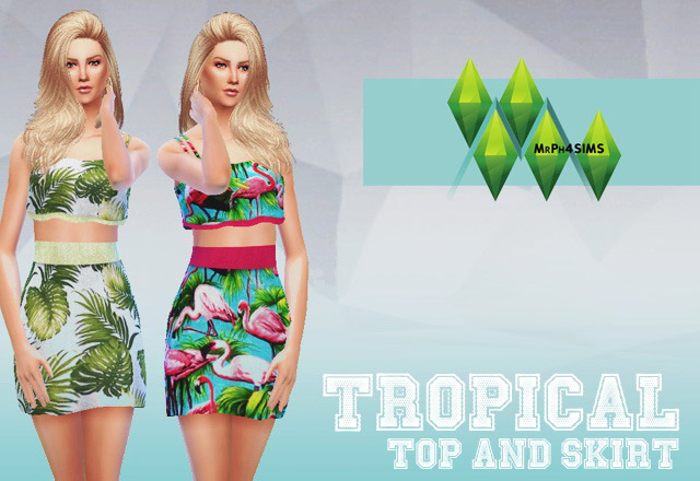 Tropical clothing recolors - The Sims 4 Catalog