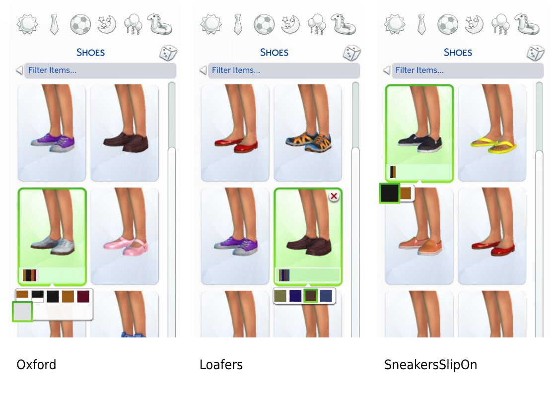 Facebook and other social networking sites are becoming popular hosts of all sorts of free simulation (sim) games. Shoe Equality for Girls (Base Game) - The Sims 4 Catalog
