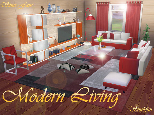 modern living room furniture  the sims 4 catalog