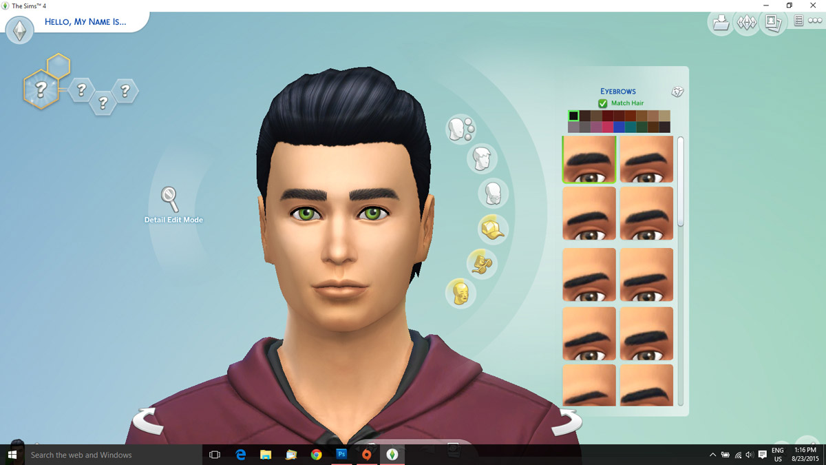 Default Replacement Eyebrows For Males The Sims 4 Catalog