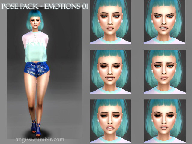 Pose Pack Emotions (01) - The Sims 4 Catalog