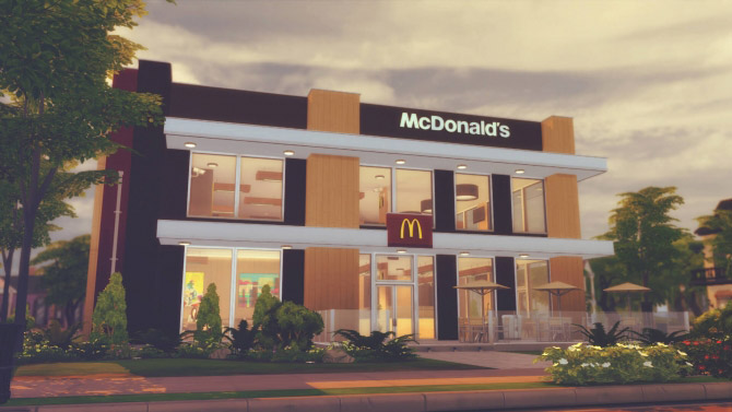 McDonald's Restaurant #3 - The Sims 4 Catalog
