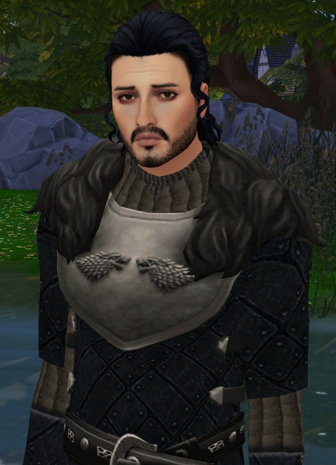 Game Of Thrones Jon Snow Leather Outfit By Him666 At Mod The Sims The Sims 4 Catalog
