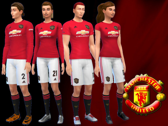 Manchester United Home Kit 2019 20 Fitness Needed The Sims