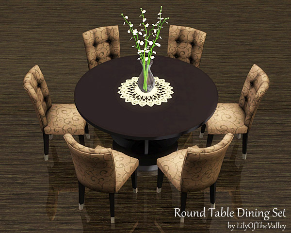 LilyOfTheValley's Round Table Dining Set