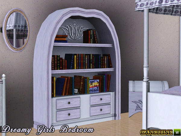 Dreamy Girls Bedroom. Bookshelf By Canelline