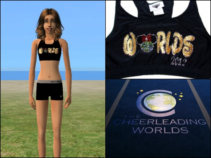 Cheer4Sims' Cheerleading Worlds Sports Bra + Nike Pro