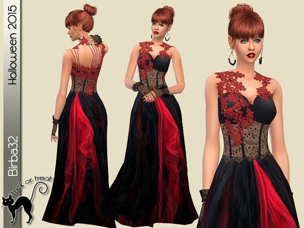Birba32's Red And Black Dress