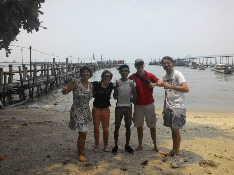 Met these bunch from Italy and France at Pantai Kerachut (Turtle Beach) in Penang. Needing a cheaper boat ride and decided to approach them for a cheaper ride. Trust me, they are very happy about it plus they are super-friendly!