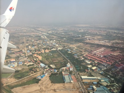View of Phnom Penh from the plane!