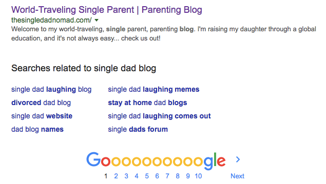 single parent blog single dad blogger