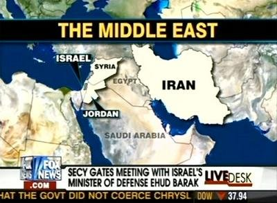 middle east wrong map