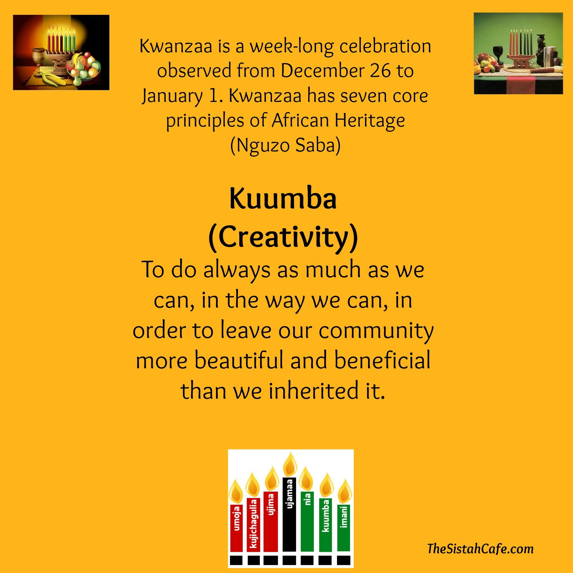 When Kwanzaa Ends A New Year Begins