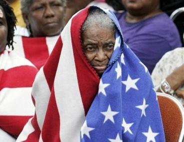 Woman in Flag
