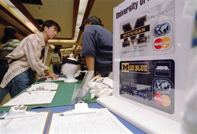 University Michigan Credit Card Booth